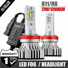 New listing H8 H9 H11 72W 12000Lm Led Headlight Fog Bulbs Conversion Kit 6500K Driving Lamps