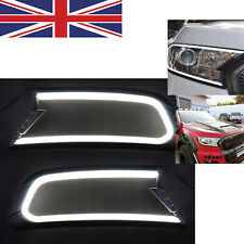 LED Daytime Running Light DRL Headlight Cover for Ford Ranger MK2 Everest 15-18