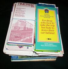 Large Lot of Assorted Amtrak Timetables Train Schedules & Magazines