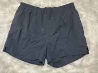Vintage Nike Swim Shorts Mens SZ 3X White Tag Big Swoosh Black