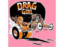 NEW Drag Girl Pink tin metal sign
