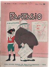 FANTASIO n°440 du 1 Juin 1925 - Magazine gai illustré - illustrations  GIFFEY