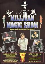 """MILLIGAN the MAGICIAN - MY TOUR IN JAPAN 1994 POSTER 14-1/4"""" x 20-1/4"""""""