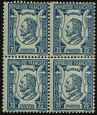1924 PIERRE DE RONSARD POET MINT BLOCK 4 FRANCE POETRY LITERATURE PRINCE OF POET