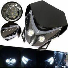 Dirtbike Motorcycle LED Headlight Street Fighter Sport Custom Fairing Light USA