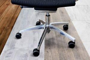 5x Hartbodenrollen  55mm / 60mm Büro-Stuhl-Rollen für Hartböden (5er Pack)