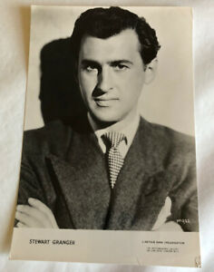 Stewart Granger, 1950s actor, black and white photograph, vintage
