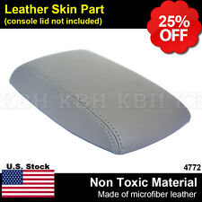 Leather Armrest Console Lid Cover Skin Fits 2014-2017 Toyota Corolla Gray