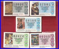 LOTE 5 AÑOS COMPLETOS LOTERIA NACIONAL DEL SABADO DEL 1985 AL 1989,