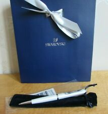 Swarovski Crystal White Pearl Enamel Starlight Ball Point Pen NEW & Gift Bag £35