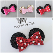 Baby Girl Toddler Bow Headband Clip Hair Accessory Mouse Glitter Leather
