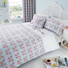 Catherine Lansfield Embroidered Butterfly Double Duvet Cover Bedding Set