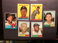 1950's-60's TOPPS BASEBALL CARDS,W/SCHOFIELD-CLENDENON EX & EX+ HI-END-FREE SHIP