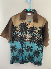 Vintage Islander Hawaiian Shirt Mens Medium Camp Shirt All Over Print Button Up