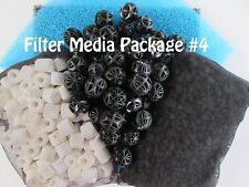 Aquarium External Canister Filter MEDIA KIT #4 Sponge Carbon Noodles Bio Balls