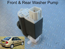 Front & Rear Windscreen Washer Pump For Hyundai Accent Hatchback 2000 to 2005