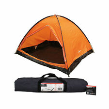 New Milestone Camping 2 Man Easy Pitch Family Outdoor Dome Tent - Orange