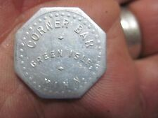 GREEN ISLE MINNESOTA GOOD FOR 5c IN TRADE TOKEN MN ORIGINAL CORNER BAR