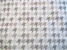 CLASSIC ROBERT ALLEN TAN GRAY HOUNDSTOOTH PLAID UPHOLSTERY FABRIC OUTLET BTY