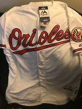 Baltimore Orioles white authentic jersey size 52 cool base majestic