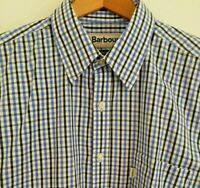 Barbour Ashgill Blue Check Cotton Long Sleeve Button Down Shirt XL Regular Fit