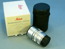 leica Summicron M2,0/90mm very rare chrome version like new boxed