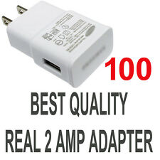 LOT 100 x 2A AC Wall Power Charger Adapter for Samsung Galaxy S5 S4 S6 S7 Note 5