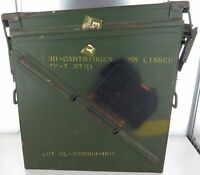 HUGE VINTAGE US MILITARY METAL AMMO CARTRIDGE BOX.