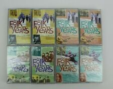 The Folk Years by Time Life 8 Cassettes 4 Sealed 4 Used Various Artists