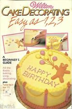 WILTON CAKE DECORATING EASY AS 1, 2, 3 STOCK NO. 902-1792 1987 EDITION SOFTCOVER