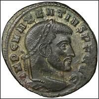 Maxentius Bronze Follis old ancient roman coin Rome Empire Imperial Authentic