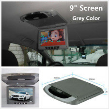 Grey 9'' Screen Flip Down Roof Mount Overhead TFT LCD Car DVD Multimedia Monitor