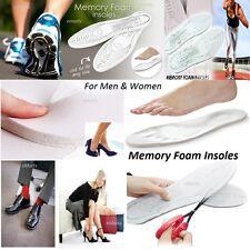 1 PAIR MEMORY FOAM INSOLES PAIR 10mm ORTHOPEDIC INNER SOLES SHOES FEET FOOTWEAR