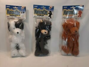 ☆ NEW LOT 3 Ganz Marionettes String Plush Puppet 9 inch /DOGS/BEARS F/SHIP