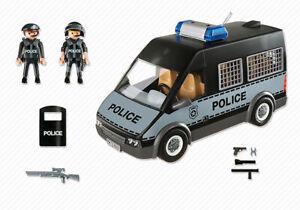 Playmobil 6043 Polizei Mannschaftswagen incl. Licht und Sound |> Polizeieinsatz