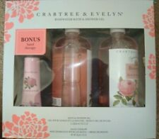 Crabtree & Evelyn, Rosewater Bath & Shower Gel x2 + Hand Therapy Gift Set!  New!
