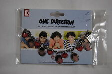 ONE DIRECTION OFFICIAL COLLECTABLE CHARM BRACELET NEW OFFICIAL HARRY NIALL LIAM