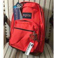 JanSport Right Pack Original Backpack Leather Suede Bottom Coral Dusk TYP72C9