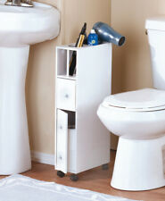 Slim Rolling Bathroom Beauty Storage Organizer Cabinet Drawer Door Caddies