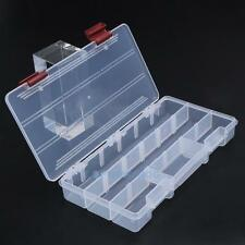Clear Plastic Box Hobbies DIY Stationery Fishing Tool Lures Bait Tackle Storage
