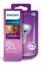 Vidrio Led Philips GU10 50w a + Dimmable Lámpara Bombilla Spot 350lm-Blanco Cálido