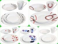 16pc Complete Dinner Set Plates Bowl Cup Porcelain Dinnerware Kitchen Dining Set