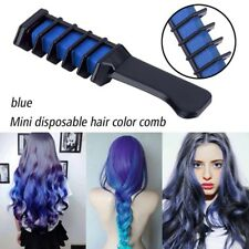 Mini 6 Colors Temporary Hair Coloring Comb Blue