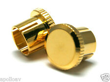 RCA Noise Reducing Caps - PTFE (Teflon) Insulation - Gold Plated - 4 pack