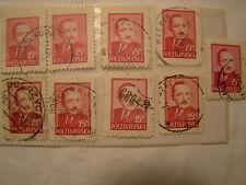 Poland Stamp 1948 Scott 441 A154 Red 15 Zt Set of 9