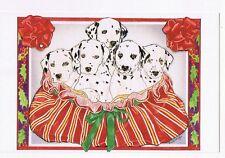 ART BY MARY BADENHOP - DALMATIAN DOGS  - ADVERTISING POSTCARD # GCPC-25