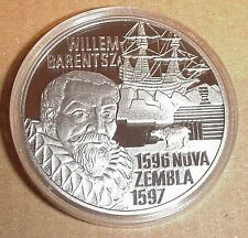 1996 Netherlands Proof Silver 20 Euro Willem Barents