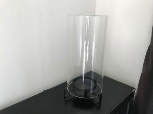 Partylite s glass hurricane lantern candle holder