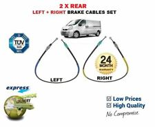 FOR VAUXHALL OPEL VIVARO  2001-2006 LEFT + RIGHT 2x REAR HAND BRAKE CABLE SET