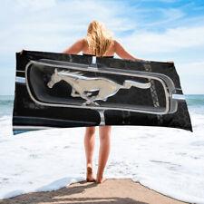 Black Ford Mustang Beach or Bath Towel